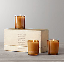 Mini Candles - Italian Leather (set of 3)