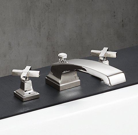 Bathroom Fixtures Restoration Hardware dillon cross-handle - polished nickel | rh