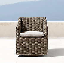 Provence Bucket Swivel Armchair