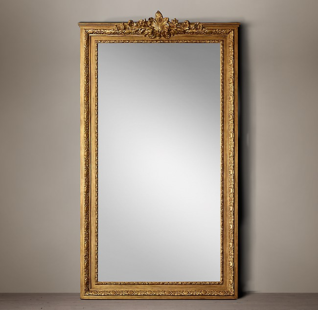 Fleur-De-Lys Gilt Leaner Mirror