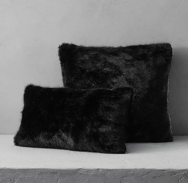 grey pillow au faux listing mongolian decorative black il cover fur