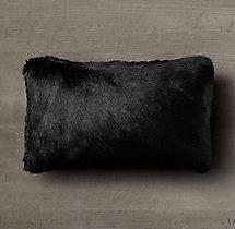 Ultra Faux Fur Pillow Cover Black
