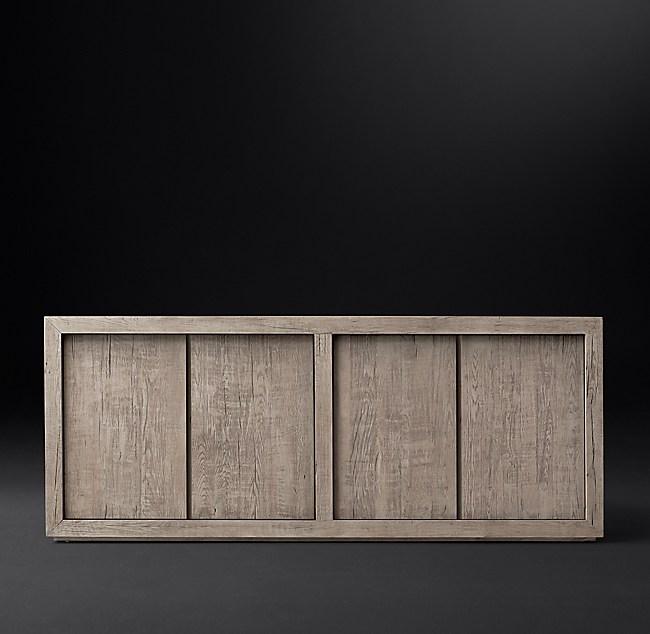 Reclaimed Russian Oak Panel 4 Door Sideboard