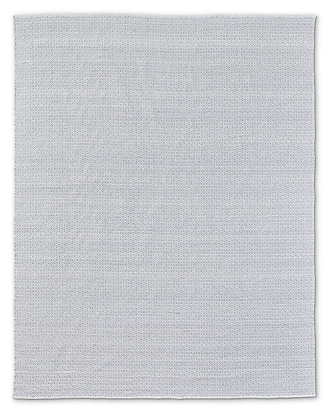 Small Diamante Outdoor Rug Grey White