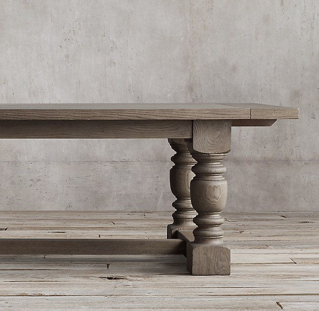 1930s French Farmhouse Rectangular Extension Dining Table