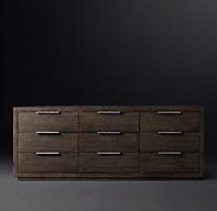 Machinto 9 Drawer Low Extra Wide Dresser