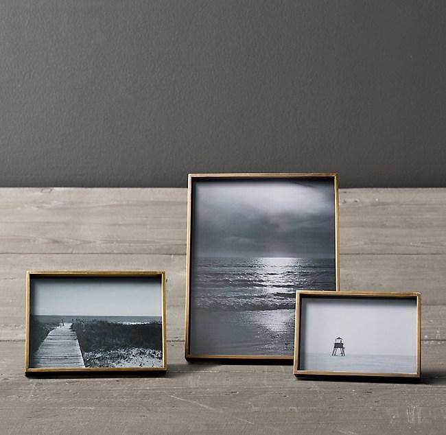 Floating Frame Antiqued Brass