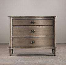 "Empire Rosette 38"" Closed Nightstand"