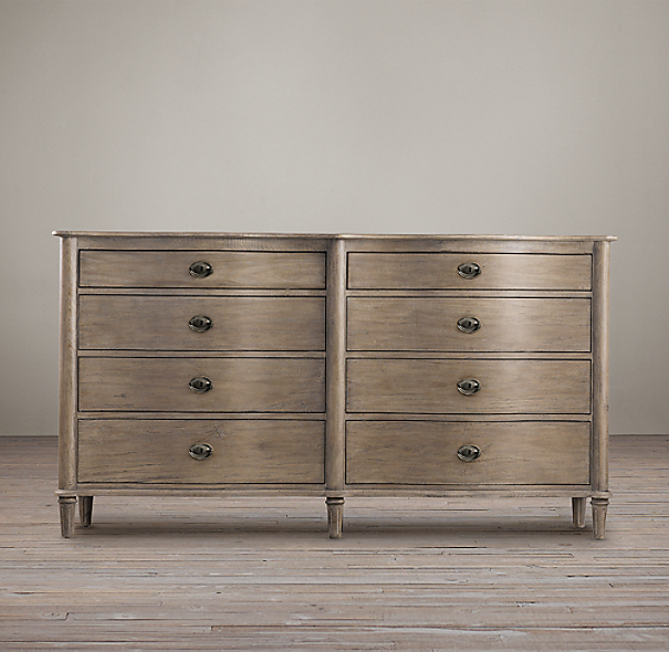 Empire Rosette 8 Drawer Dresser
