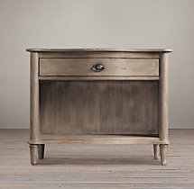 "Empire Rosette 38"" Open Nightstand"