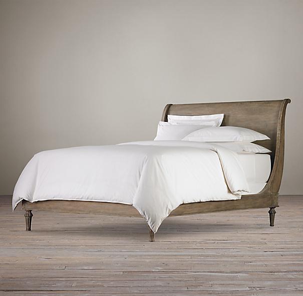 Empire Rosette Sleigh Bed