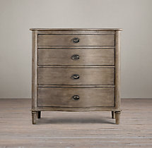 Empire Rosette 4-Drawer Dresser