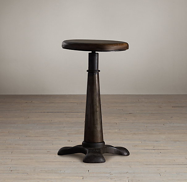 French Sewing Stool Table