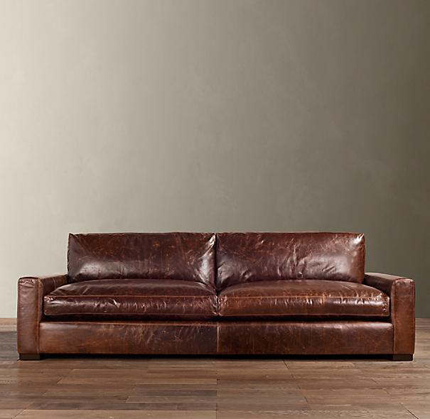 Lovely Restoration Hardware Furniture Manufacturer : Maxwell Leather Sofa ...