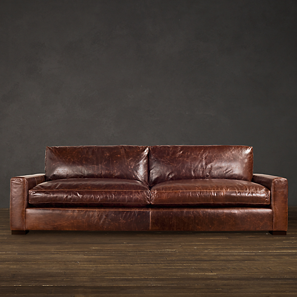 Restoration Hardware Leather : Maxwell leather sofa