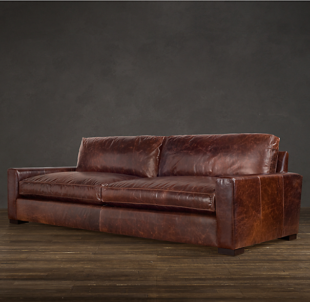 restoration hardware leather sofa 7' Maxwell Leather Sofa restoration hardware leather sofa