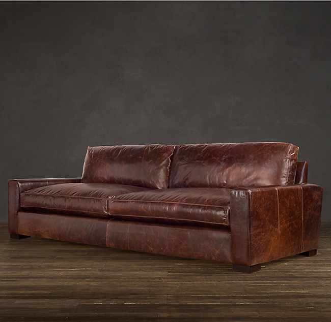 Maxwell Leather Sofa Color Preview Unavailable