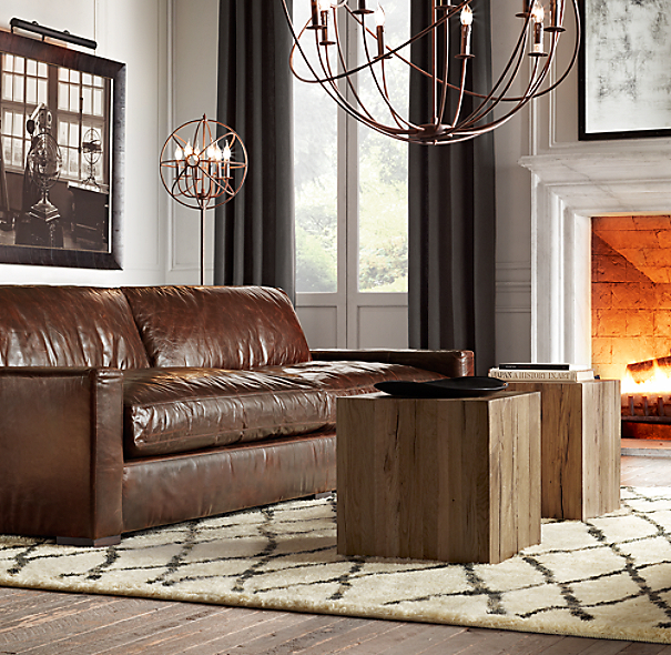 Restoration Hardware Sofa Collection: Maxwell Leather Sofa