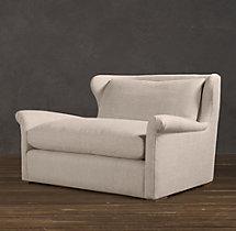 5' Belgian Wingback Upholstered Sofa