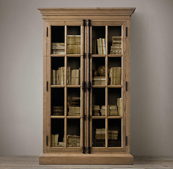 French casement double door cabinet - Restoration hardware cabinets ...
