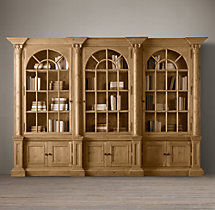 Palladian Triple-Door Cabinet