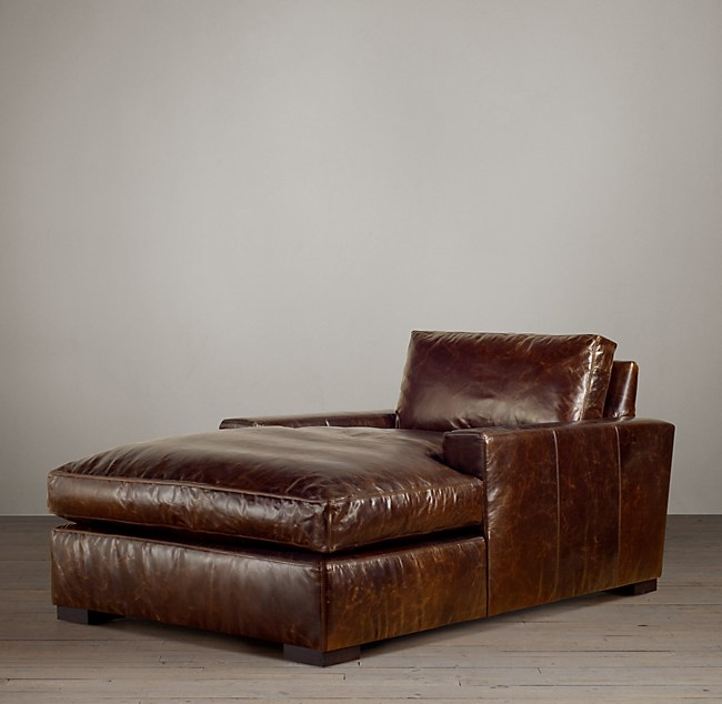 com victorian amazon josephine leather baxton studio modern ac lounge chaise dp brown