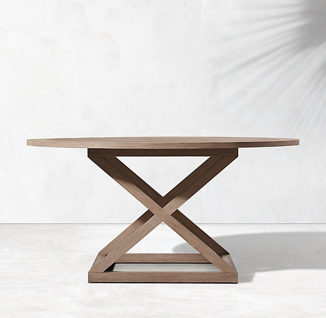 Outdoor Teak Round Dining Table