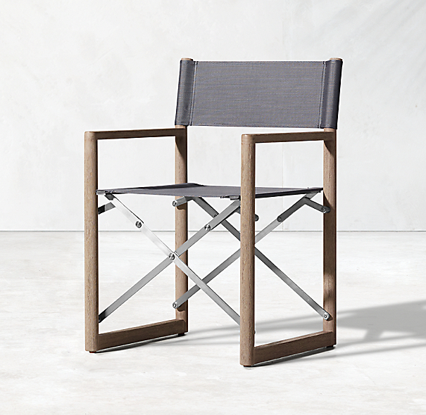 Director 39 s outdoor teak armchair for Restoration hardware teak outdoor furniture