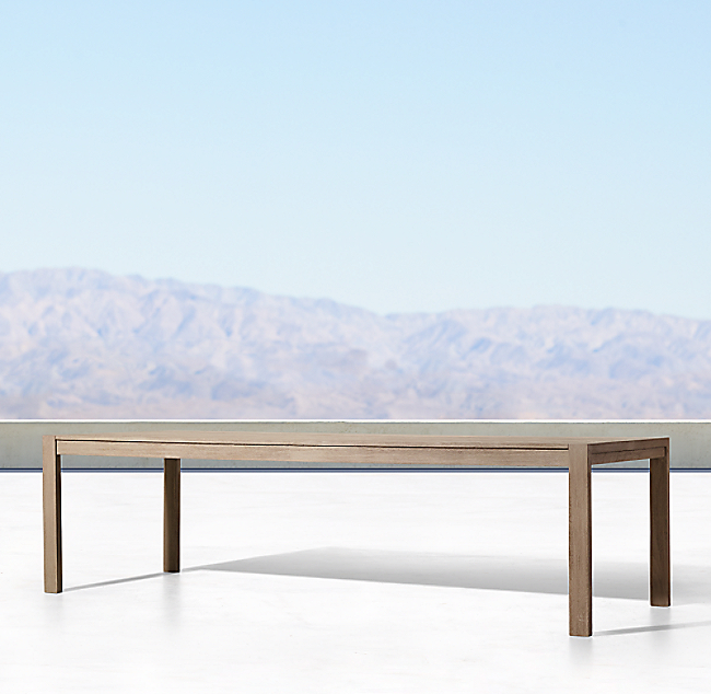 Aegean Teak Rectangular Dining Table Color Preview Unavailable Alternate View 1 2 3