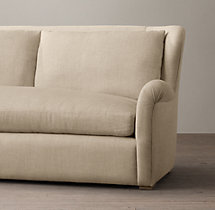 7' Belgian Wingback Upholstered Sofa