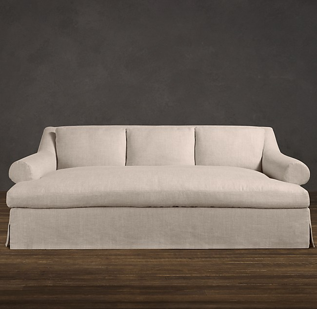 Belgian Roll Arm Slipcovered Daybed