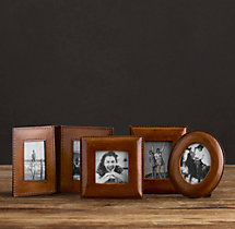 Mini Artisan Leather Tabletop Frames - Chestnut