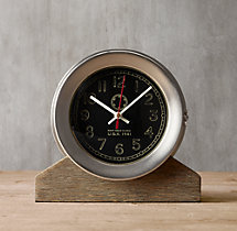 Navy Deck Clock