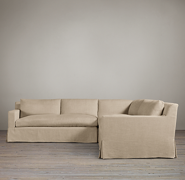 Belgian Track Arm Slipcovered Customizable Sectional