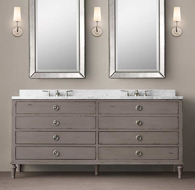 restoration hardware bathroom cabinets maison vanity with drawers 25524