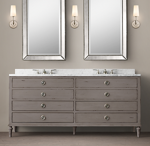 New Restoration Hardware Bathroom Vanity Transitional Bathroom