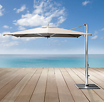 Tuuci® Ocean Master Max Cantilever Colorblock Two-Tone Rectangular Polished Aluminum Umbrella