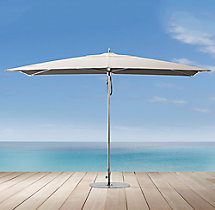 Tuuci® Ocean Master Colorblock Two-Tone Rectangular Polished Aluminum Umbrella