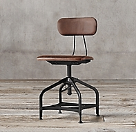1940s Vintage Toledo Leather Dining Chair