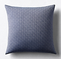 Kerry Joyce Omoro Square Pillow Cover - Indigo/White