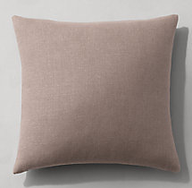 Belgian Linen Knife-Edge Pillow Cover - Square