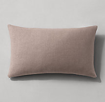 Belgian Linen Knife-Edge Pillow Cover - Lumbar