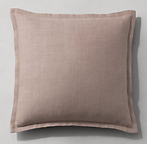 Belgian Linen Flanged Pillow Cover - Square
