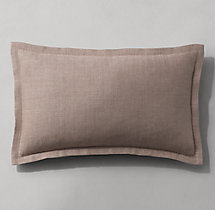 Belgian Linen Flanged Pillow Cover - Lumbar