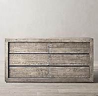 Reclaimed Russian Oak 6 Drawer Dresser