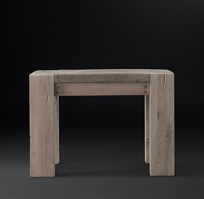 Brilliant Reclaimed Russian Oak Parsons Side Table Download Free Architecture Designs Lukepmadebymaigaardcom