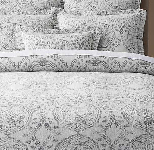 Castillo Medallion Cotton Linen Duvet Cover