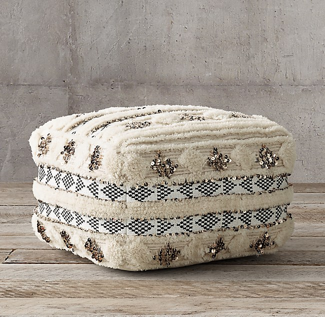 Wondrous Moroccan Wedding Square Pouf Natural Pdpeps Interior Chair Design Pdpepsorg