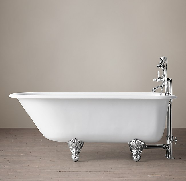 Classic Victorian Clawfoot Tub With Lever Handle Tub Fill