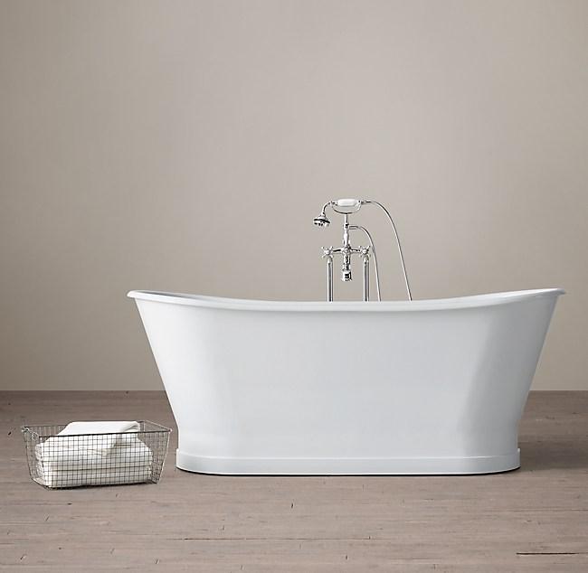 Piedmont Pedestal Soaking Tub with Cross-Handle Tub Fill